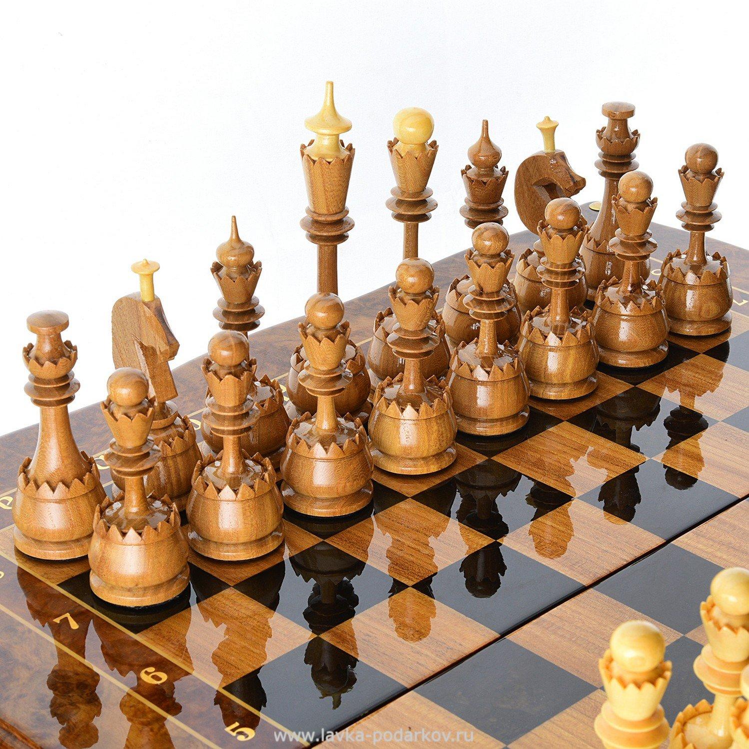 Сделать шахматы из дерева своими руками 13