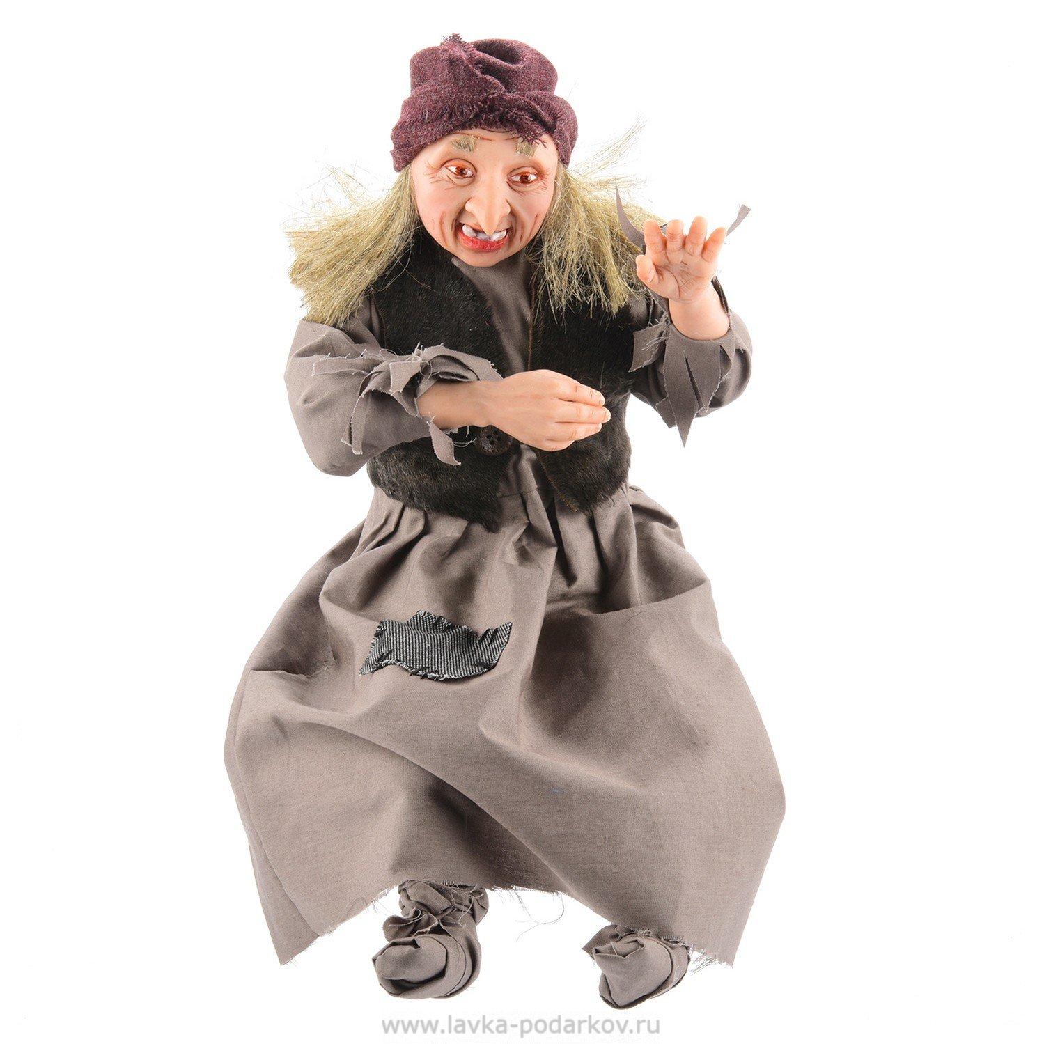 """Кукла из полимерной глины """"Баба Яга"""", арт. 800368728 ...: http://www.lavka-podarkov.ru/catalog/kukly_ruchnoy_raboti/eksklyuzivnye_kykly/38413/"""